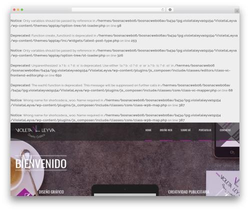 WordPress website template Applay (shared on wplocker.com) - violetaleyva.com