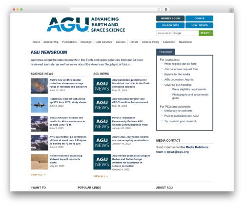 WordPress smartsimian-creator plugin - news.agu.org