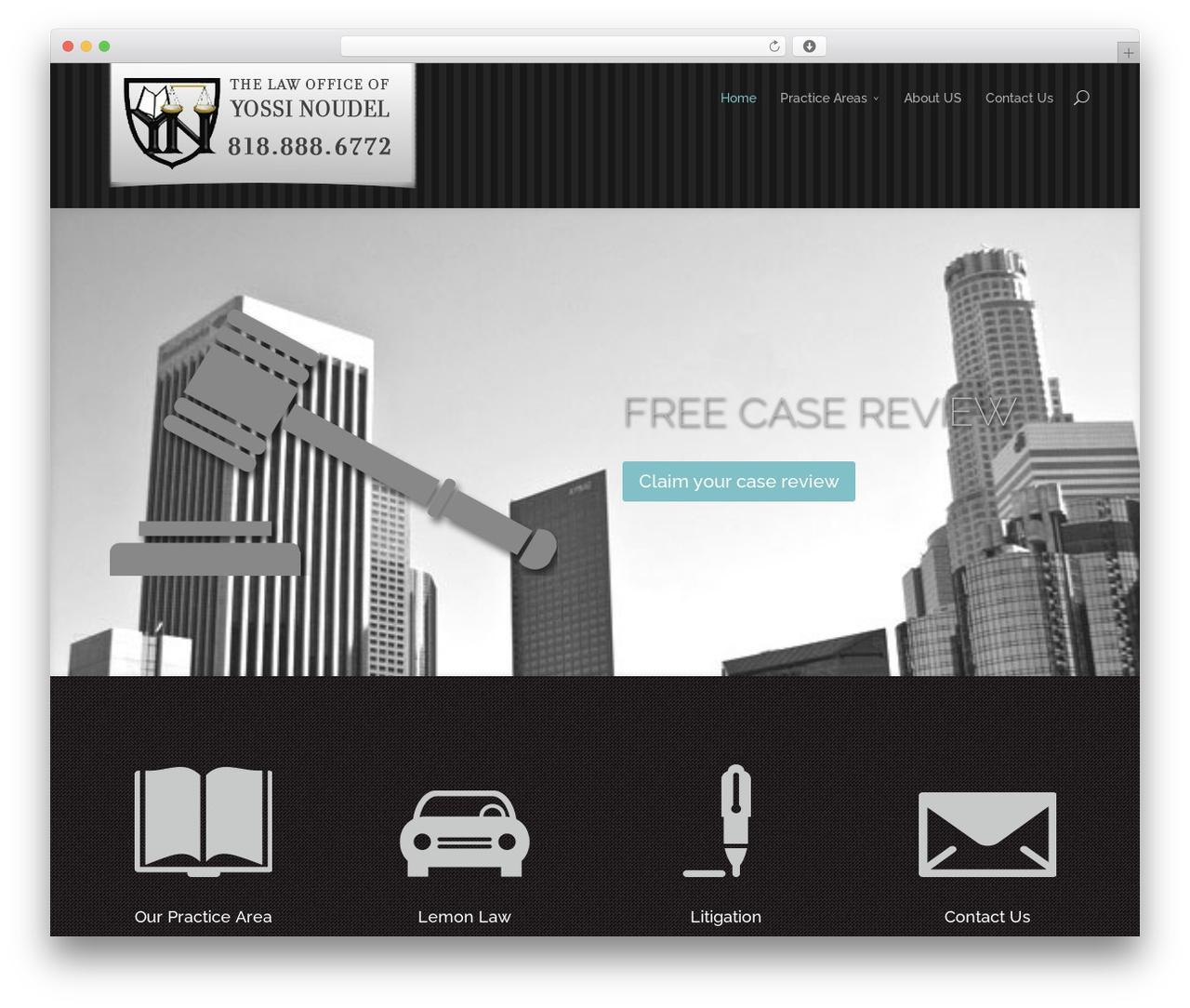 Divi WordPress theme - noudel-law.com