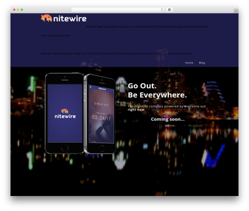 Encore WordPress theme - nitewireapp.com