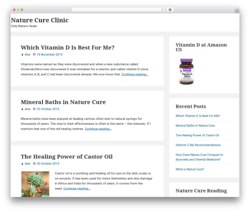 Suri free website theme - naturecureclinic.com