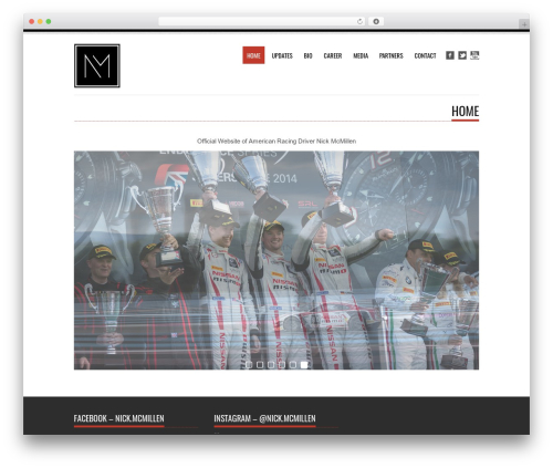 Tesla best free WordPress theme - nickmcmillen.com