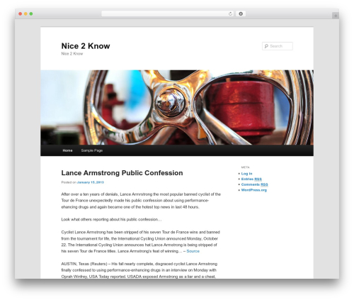 Twenty Eleven template WordPress free - nice2know.info