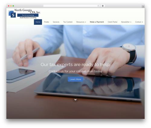 WordPress website template Customized3 - northgeorgiacpa.com