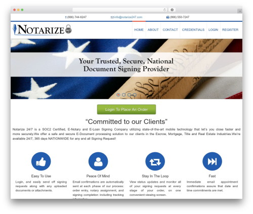 AccessPress Ray free WordPress theme - notarize247.com