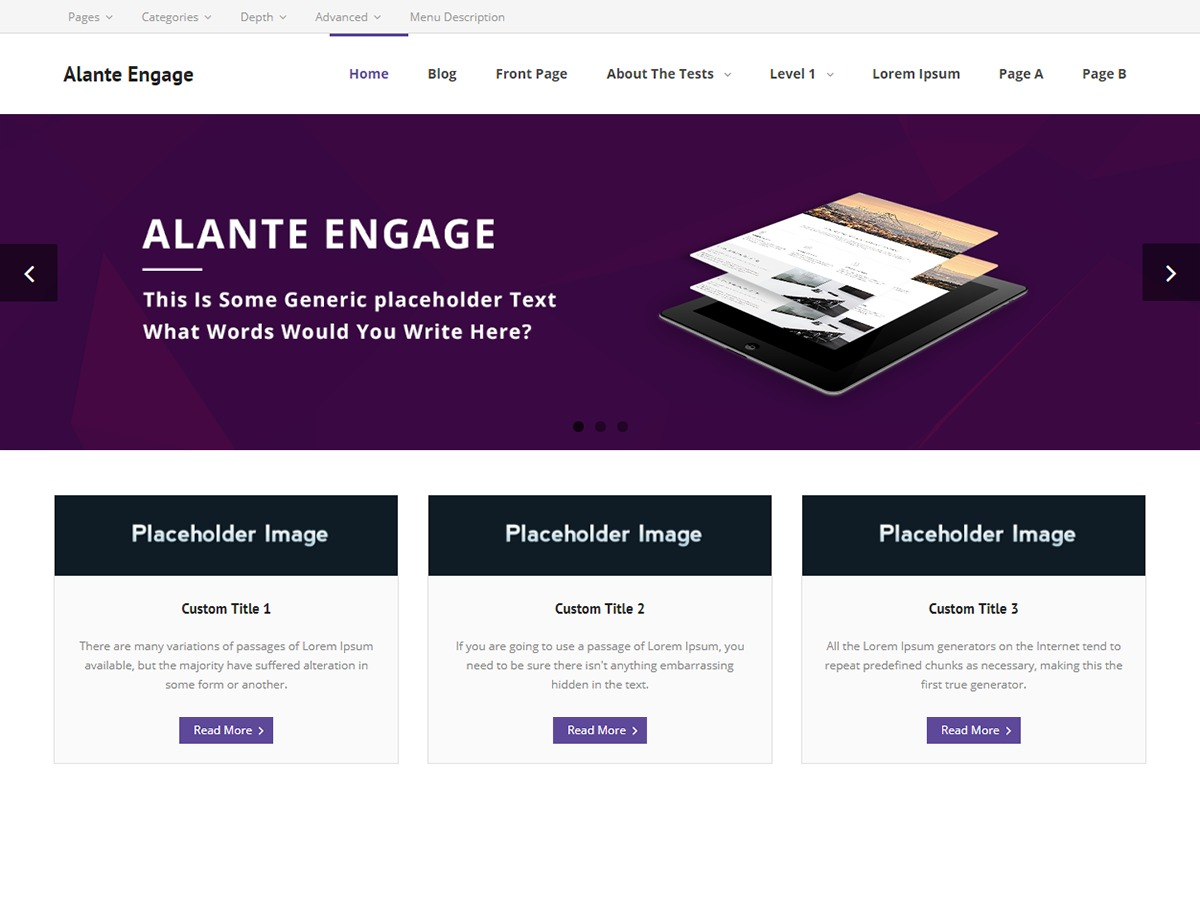 Alante Engage business WordPress theme