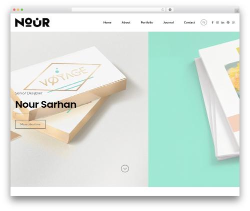 cookie WordPress portfolio theme - noursarhan.com