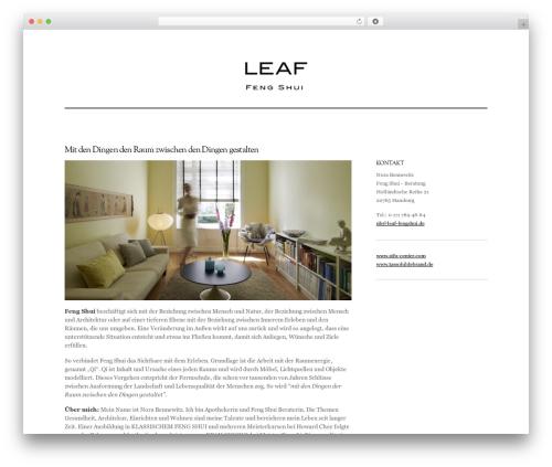 Elemin WordPress website template - norabennewitz.de