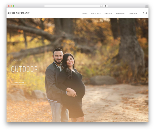 Napoli WordPress template for photographers - nilessa.ca