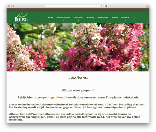 Organique WP Theme theme WordPress - neutkens-planten.nl
