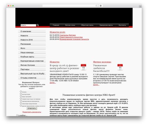 Stardust WordPress theme - nrg-sport.ru