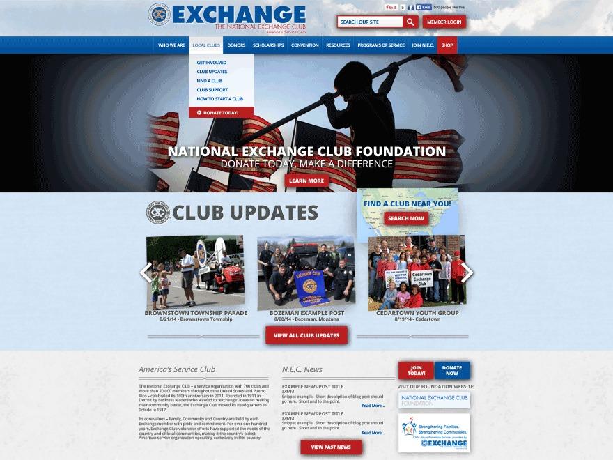 WordPress theme National Exchange Club