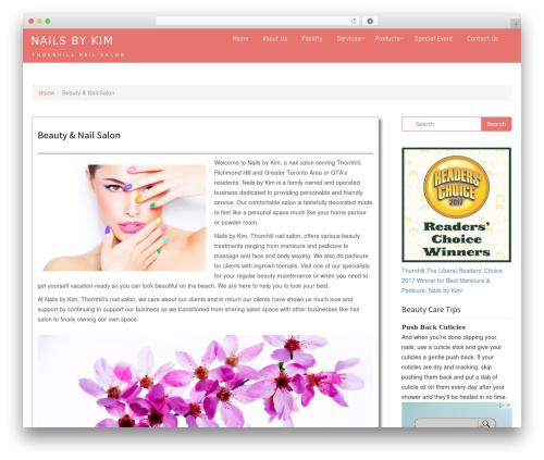 Ariwoo company WordPress theme - nailsbykim.ca