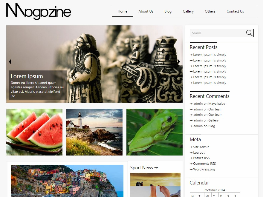 Mottomag WordPress magazine theme