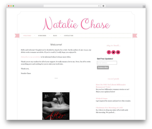 Template WordPress Sugar and Spice - natalie-chase.com