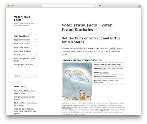 Twenty Fifteen WordPress theme - voterfraudfacts.com