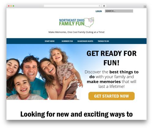 WordPress template Genesis - northeastohiofamilyfun.com