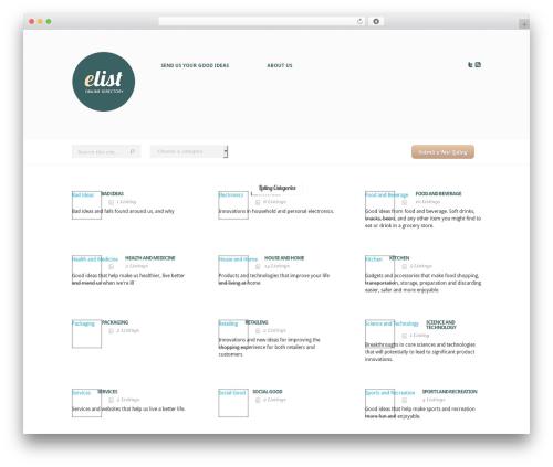 WordPress theme eList - nothingbutgoodideas.com