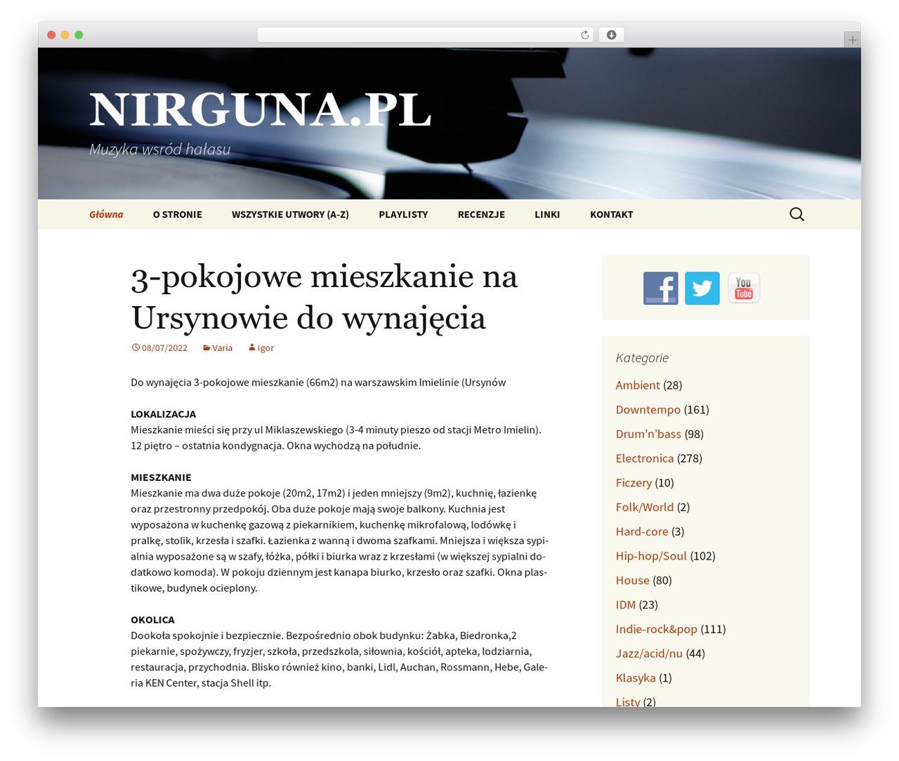 WordPress theme Twenty Thirteen - nirguna.pl