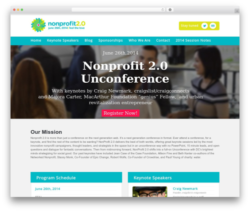 WP template Eventor - nonprofit20.org