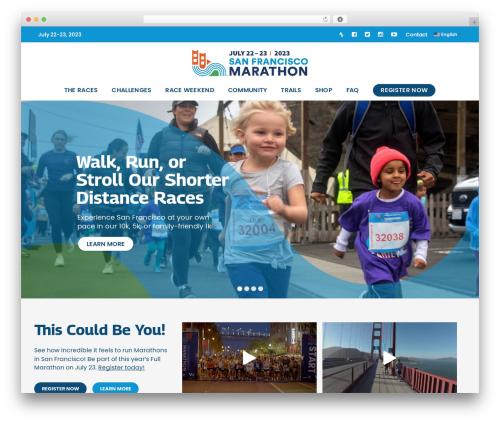 AllStar template WordPress - thesfmarathon.com