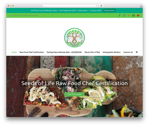 Avada food WordPress theme - theseedsoflife.net