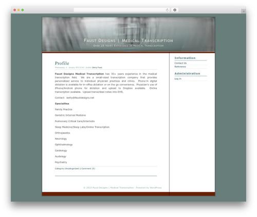 Best WordPress template Dialogue - faustdesigns.net