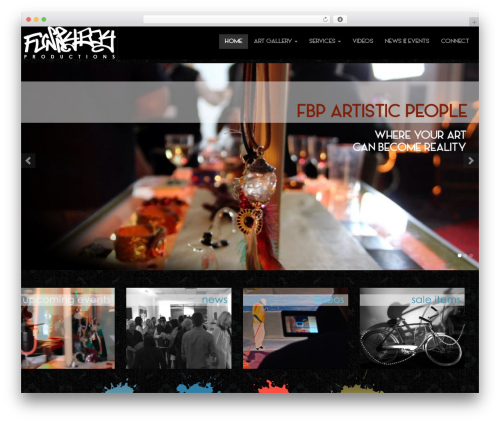 Bootstrap Parallax theme WordPress - fbpartisticpeople.com
