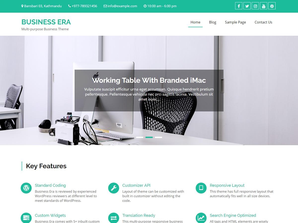 Business Era WordPress blog template