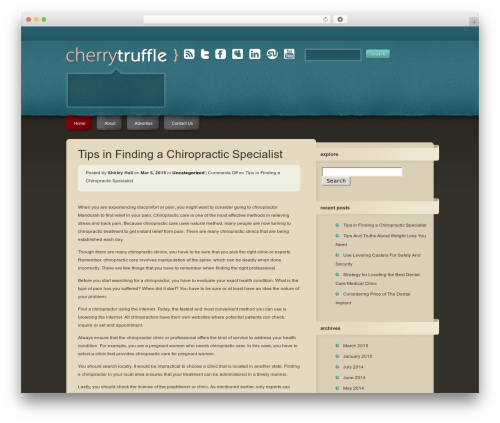 CherryTruffle WordPress blog template - fusspots.net