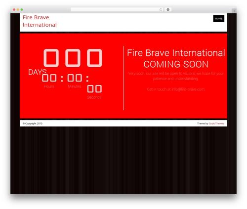 Count Down WordPress theme - fire-brave.com