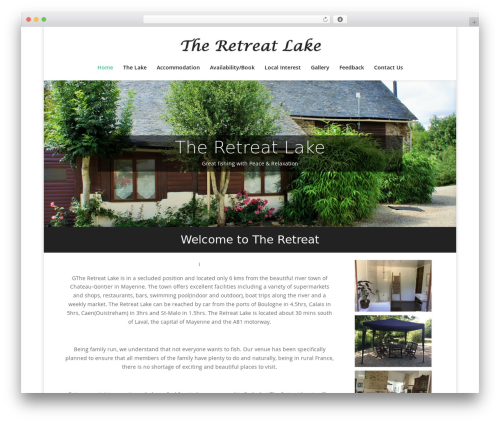 Divi WordPress theme - theretreatlake.com