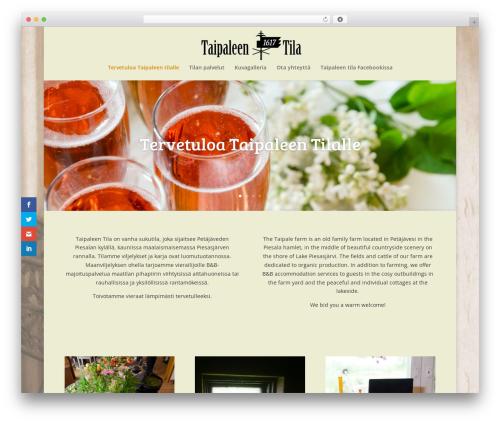 Divi WordPress website template - taipaleentila.com