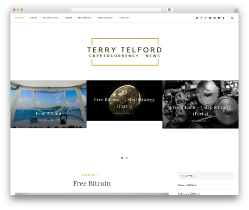 EasyNote business WordPress theme - terrytelford.com