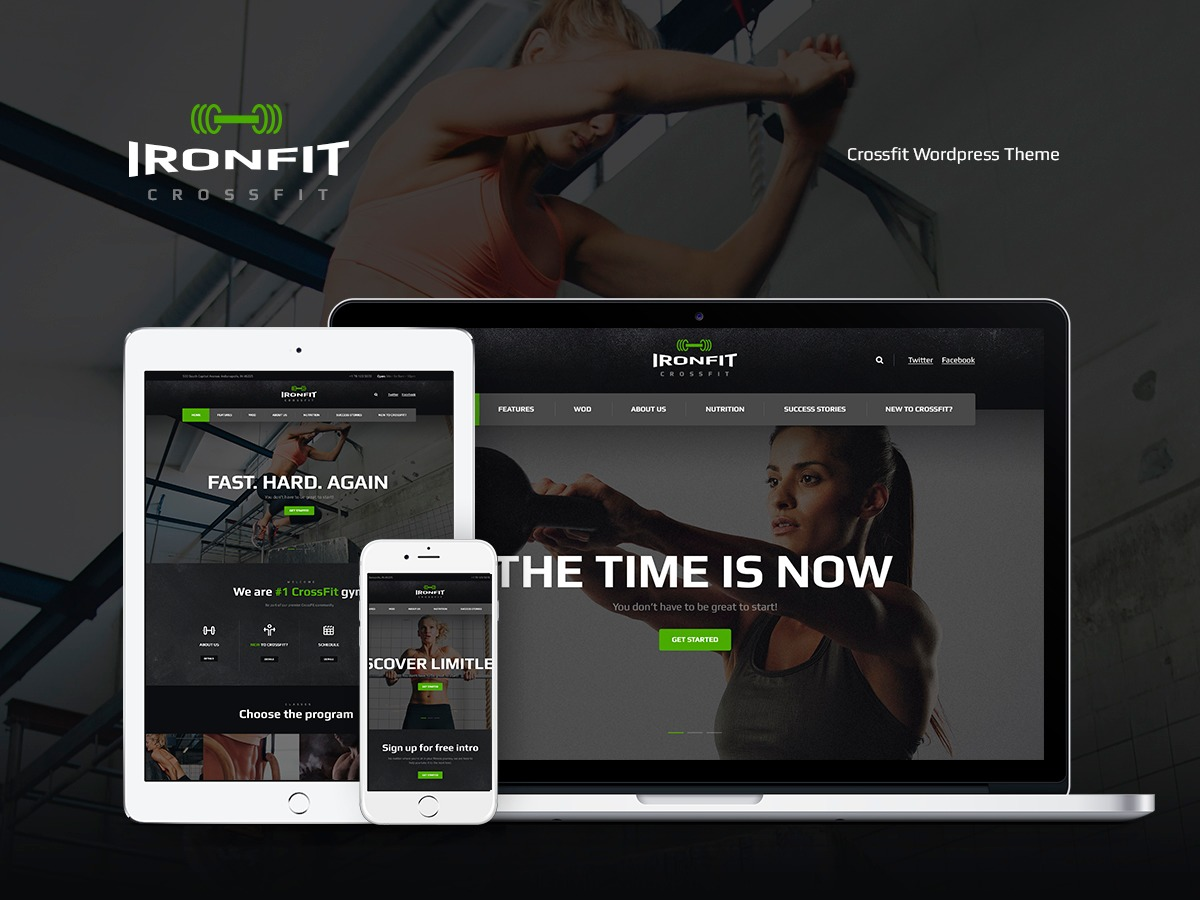 Ironfit WordPress template