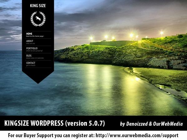 KingSize WordPress theme design