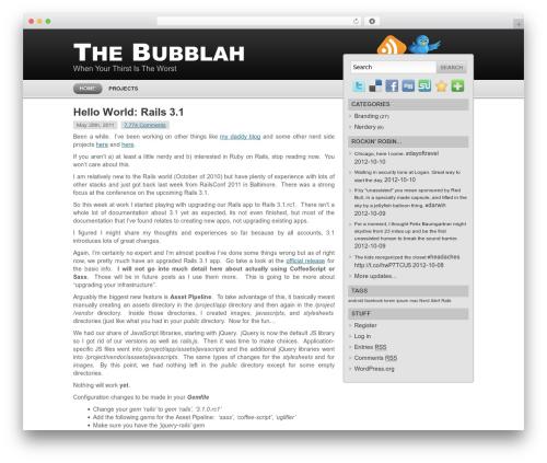 Modern Style WordPress blog theme - thebubblah.com/blog