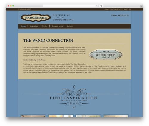 Modernize business WordPress theme - thewoodconnection-sj.com