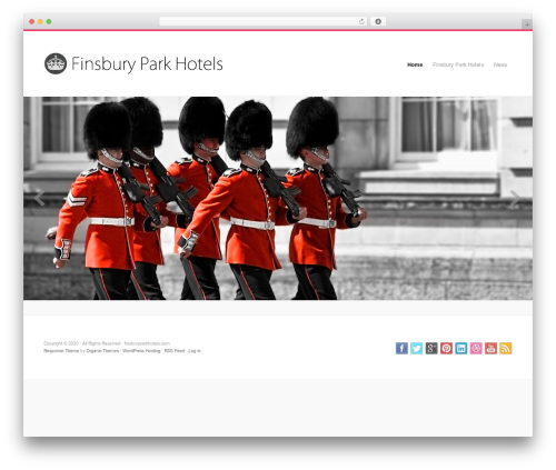 Organic Response Theme best hotel WordPress theme - finsburyparkhotels.com