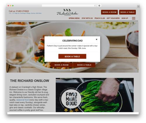 Peach Pubs best restaurant WordPress theme - therichardonslow.co.uk
