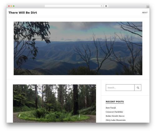 PhotoBlogger free WordPress theme - therewillbedirt.com