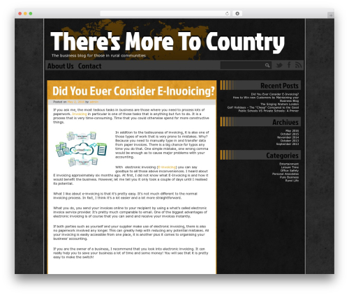 Ping WordPress website template - theresmoretocountry.com