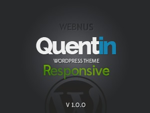 Quentin WordPress page template