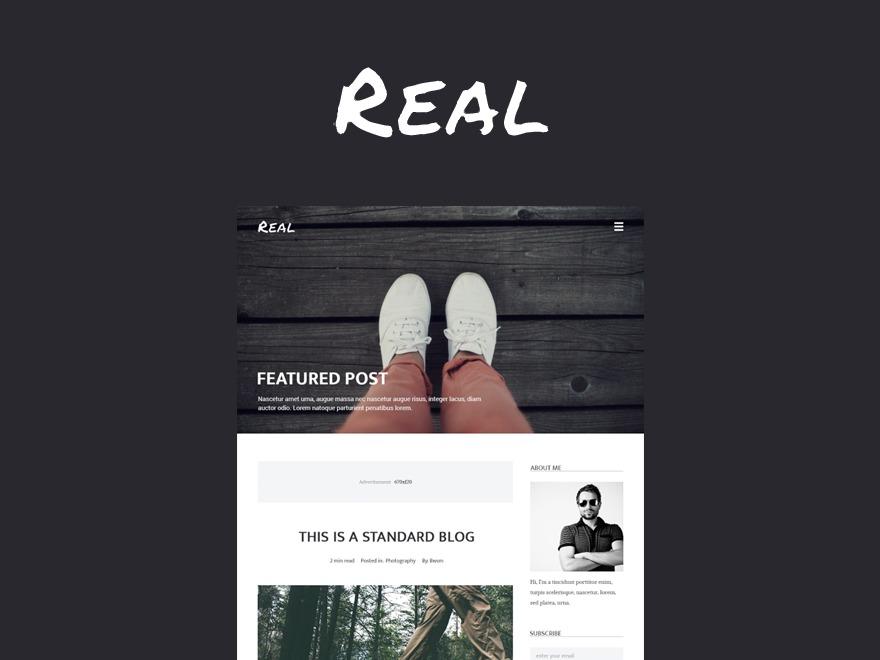 Real WordPress blog template