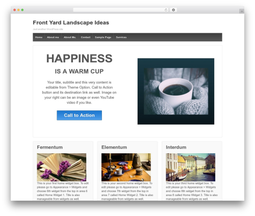 Responsive free WordPress theme - front-yard-landscape-ideas.com