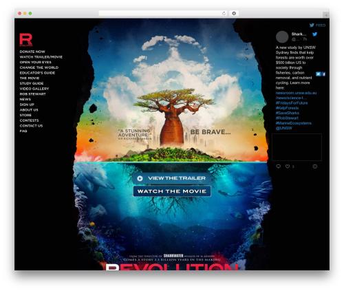 Revolution premium WordPress theme - therevolutionmovie.com