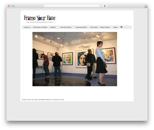Rhea theme WordPress free - frameyourface.com