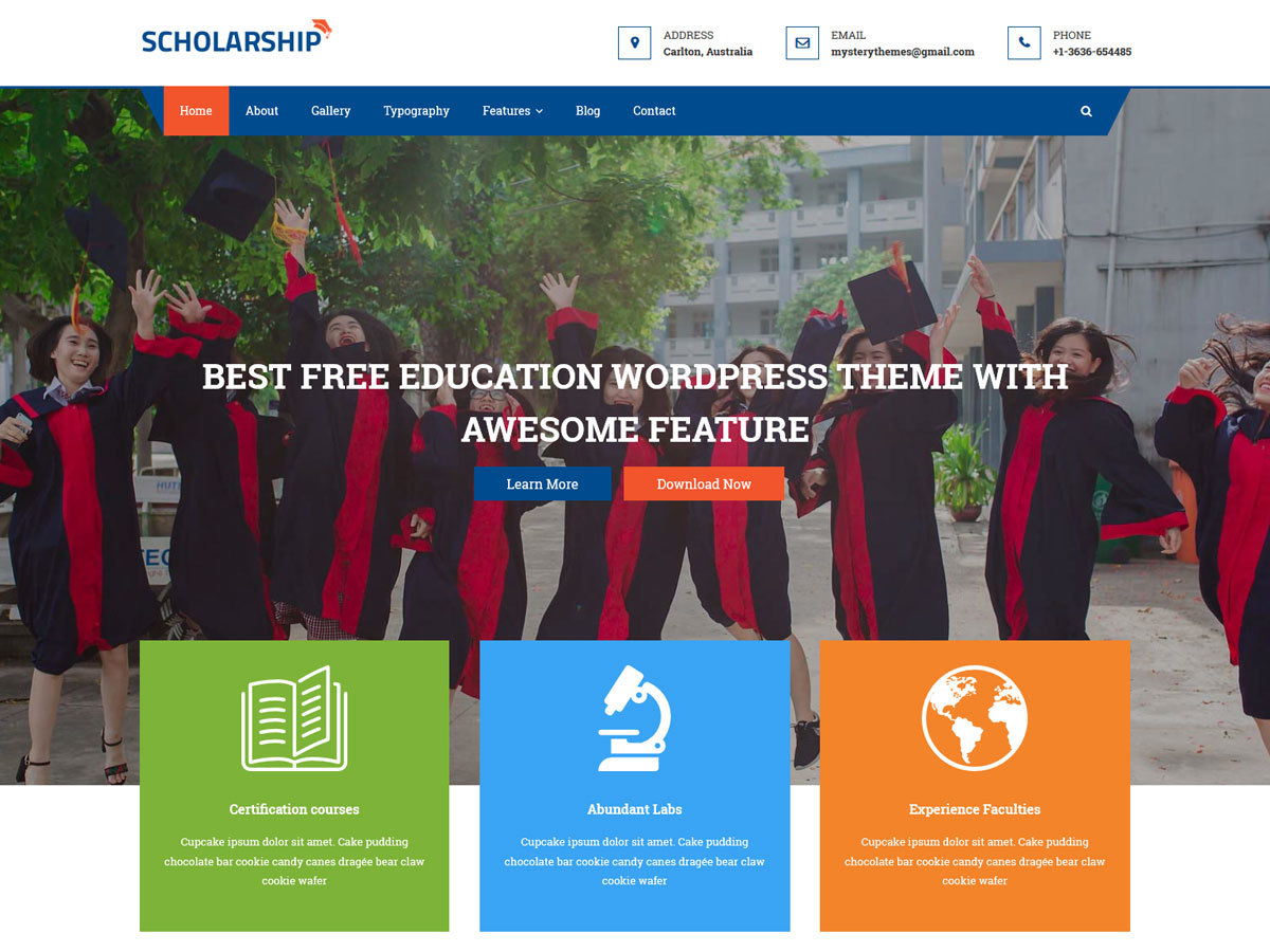 Scholarship best WordPress theme