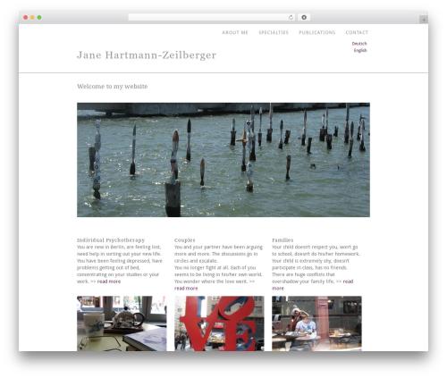 Template WordPress Portafolio - therapy-in-berlin.de