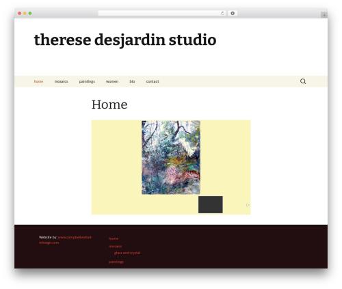 Template WordPress Twenty Thirteen - theresedesjardinstudio.com